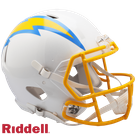 Justin Herbert - Autographed Los Angeles Chargers Speed Riddell Full Size Authentic Pro Football Helmet