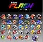Riddell NFL and NCAA FLASH Speed Mini, Full Size Replica and Authentic Football Helmets