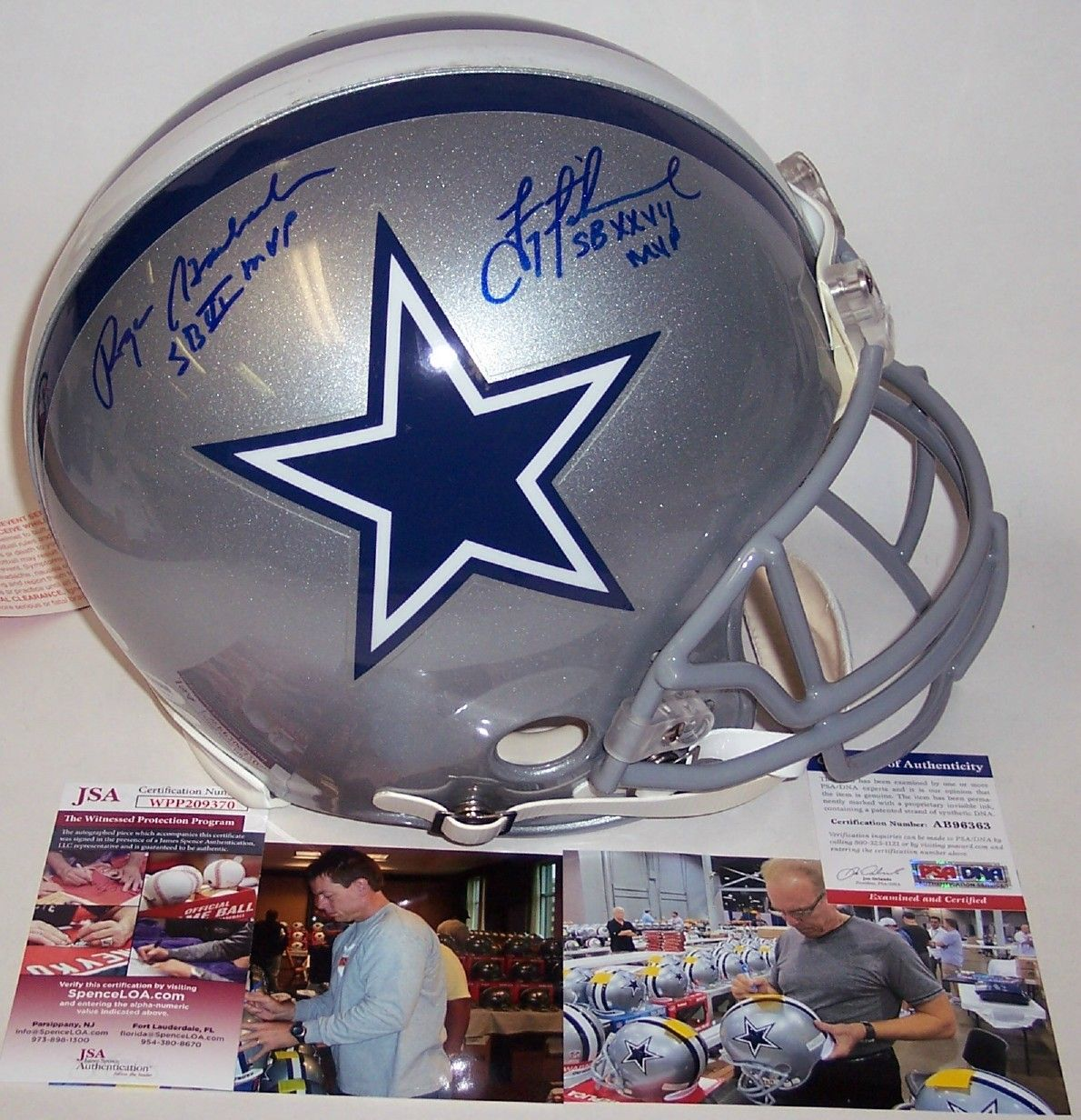 purchase cheap b9bb2 62267 Roger Staubach / Troy Aikman - Autographed Official Full ...