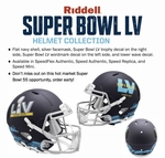 Super Bowl 55 LV - Riddell Authentic Speed NFL Full Size Proline Football Helmet