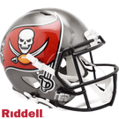 Tampa Bay Bucs Riddell Authentic Revolution Speed NFL Full Size On Field Football Helmet - 2014 Logo