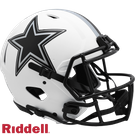 Troy Aikman - Autographed Dallas Cowboys Riddell Lunar Eclipse Speed Full Size Authentic Pro Football Helmet