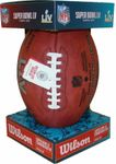 Wilson Official Leather NFL® SUPER BOWL 55 LV Full Size Game Football - w/ Tampa Bay Bucs vs Kansas City Chiefs stamped on ball