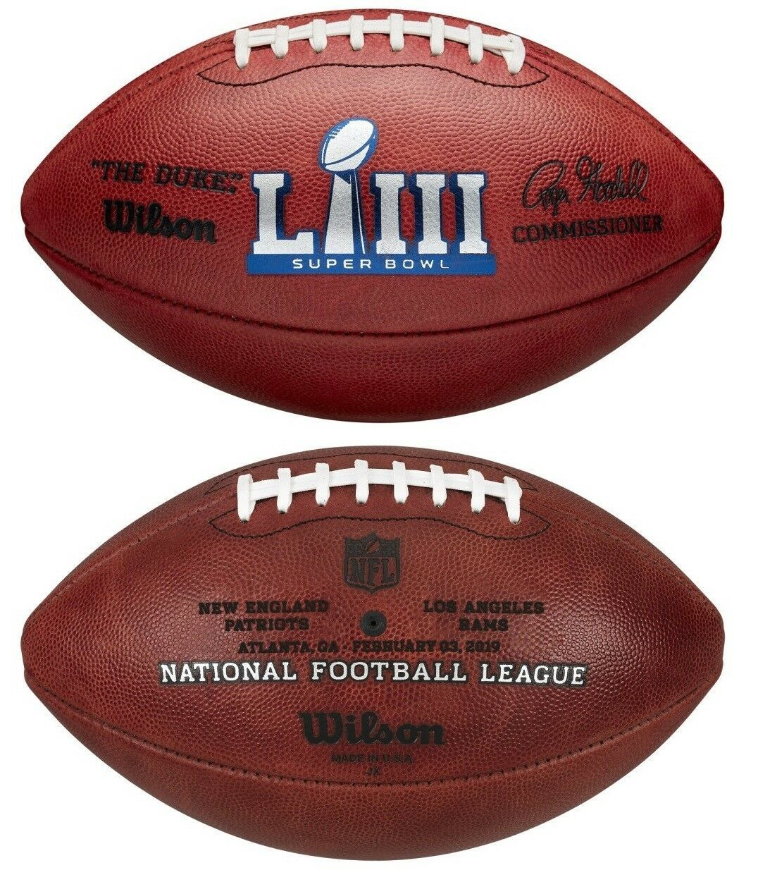Wilson Official Leather Nfl Super Bowl 53 Liii Full Size Game