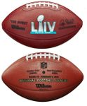 Wilson Official Leather NFL® SUPER BOWL 54 LVI Full Size Game Football - w/ San Francisco 49ers vs Kansas City Chiefs stamped on ball