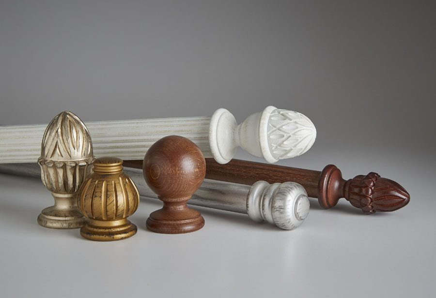Decorative Curtain Rods Wood Marble Metal