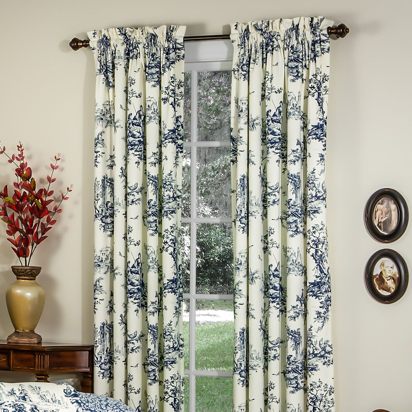 Jacquard Window 84 Inch Length Curtain Drapes w//attached Valance Scarf 2 Tassels Sheer Backing Traditional 84 Floral Curtain Drape for Living//Dining rooms Rod Pocket Taupe//Camel