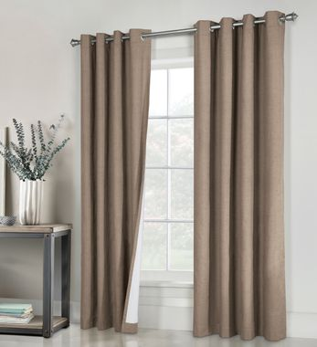 Ventura Black Out Grommet Top Curtain Panel Pair - Commonwealth