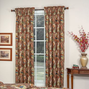 Rod Pocket Curtain Pair - Wilderness Royal by Thomasville