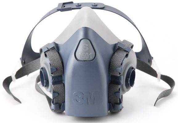 3M Half Facepiece Reusable Respirator Assembly 7501 (Small)