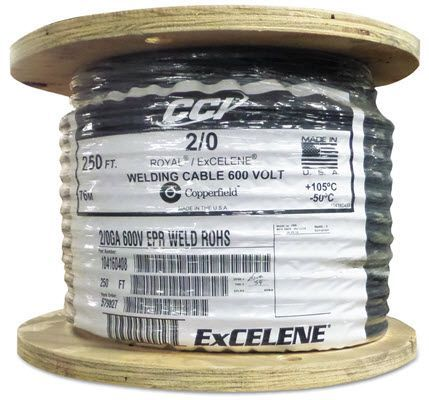 Southwire Royal Excelene 2/0 Welding Cable - 250 ft. Reel