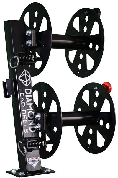 Diamond Welding Lead Reel - 10 Inch Fixed Base Double FBD10BLK