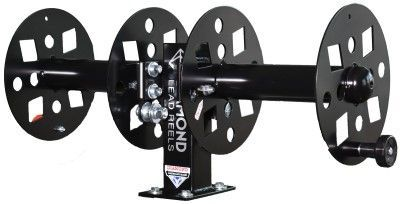 Diamond Welding Lead Reel - 12 Inch Fixed Base Side x Side FBSS12BLK
