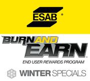 ESAB Burn and Earn Winter Specials