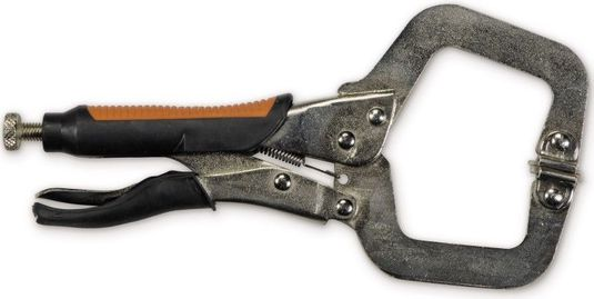 Hobart Locking C-Clamp Pliers, Rubber Grip - 11 Inch 770561