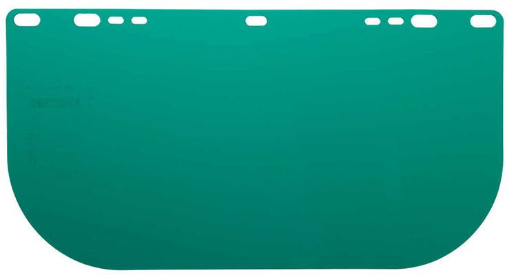 Jackson 8154 Dark Green Polycarbonate Face Shield 29100