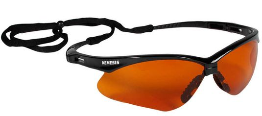 KleenGuard Nemesis Safety Spectacle - Blue Shield Copper Lens 19642