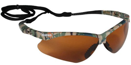 KleenGuard Nemesis Safety Spectacle - Bronze Lens w/Camo Frame 19644