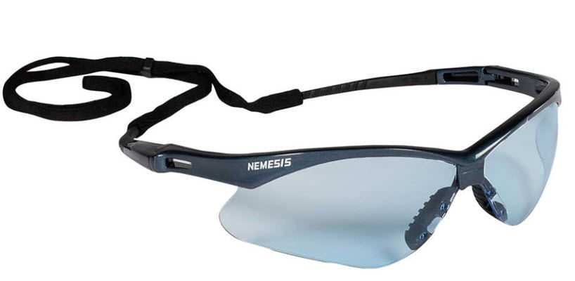 KleenGuard Nemesis Safety Spectacle - Light Blue Lens 19639