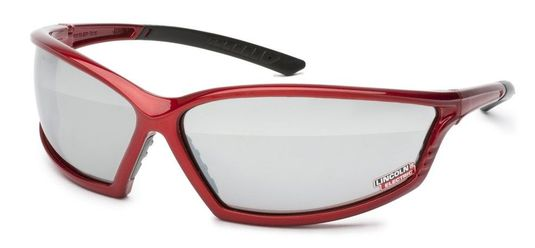 Lincoln I-Beam Red Outdoor Welding Safety Glasses K2972-1