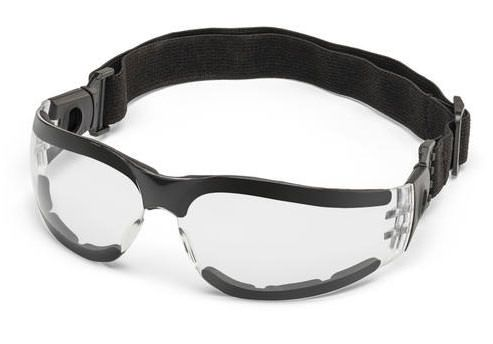Miller Classic Clear Safety Glasses With Foam And Strap 272188