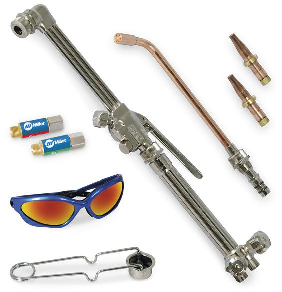 Smith Toughcut Select Pack Torch and Tips, Acetylene 287643