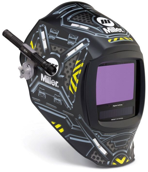 Miller Welding Helmet - Black Ops Infinity w/Light Kit 280047LK