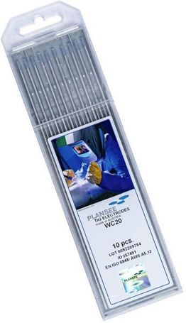 Plansee 2% Ceriated Tungsten Electrode CE2-1/16-P