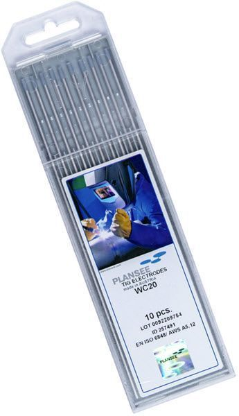 Plansee 2% Ceriated Tungsten Electrode CE2-3/16-P