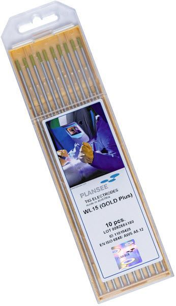 Plansee 1.5% Lanthanated Tungsten Electrode LA1.5-1/16-P