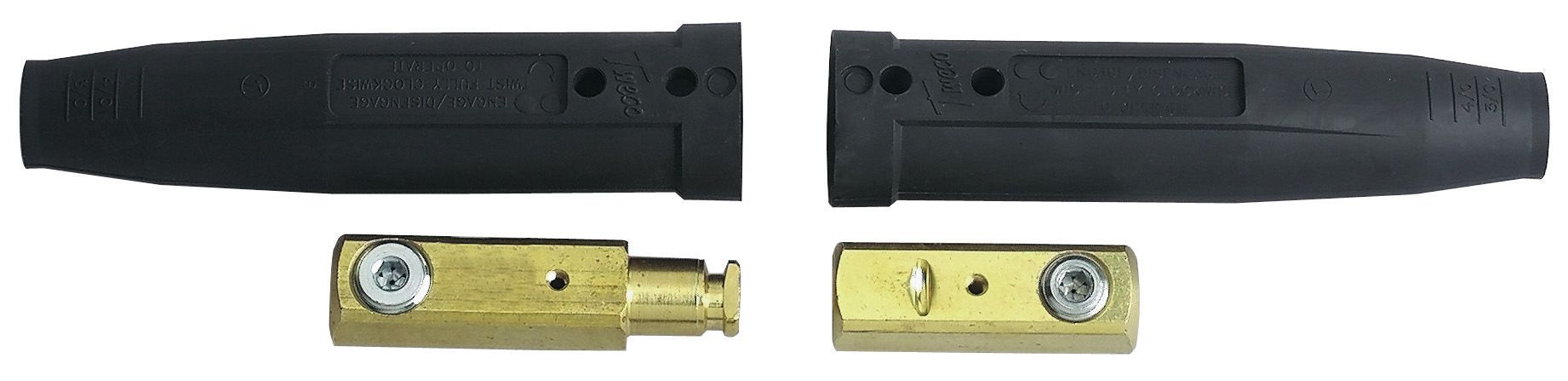 Tweco Weld Cable Connectors (Male/Female) - 2MPC