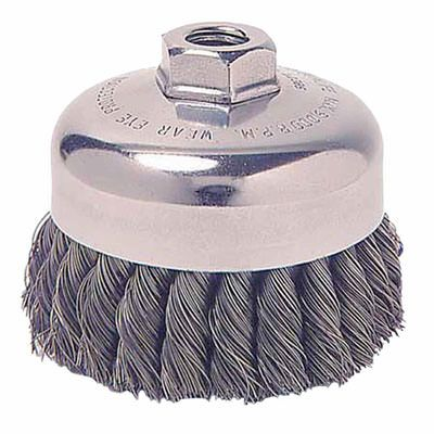 """Weiler Cup Brush - 2 3/4"""" Stainless Steel Knot 13258"""