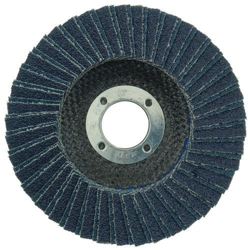 "Weiler Tiger X Flap Disc - 4-1/2"" Type 27 7/8 Arbor 40 Grit 51223"