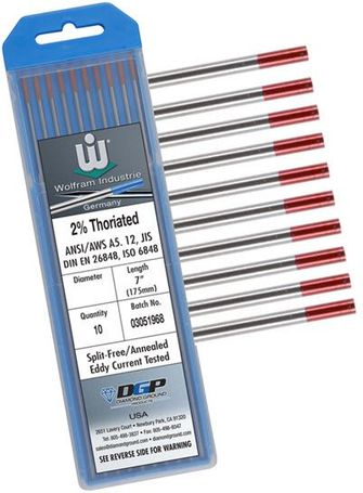 Wolfram 2% Thoriated Tungsten Electrode TH2-3/32-W