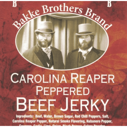 Carolina Reaper Pepper Extremely HOT!!! Beef Jerky 7oz Bag.     (((NO MSG, Nitrates, or Gluten!!!)))