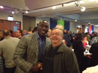 Dad with Shannon Sharpe