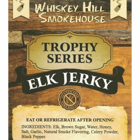 Whiskey Hill Smokehouse ELK Jerky Gluten Free!!!