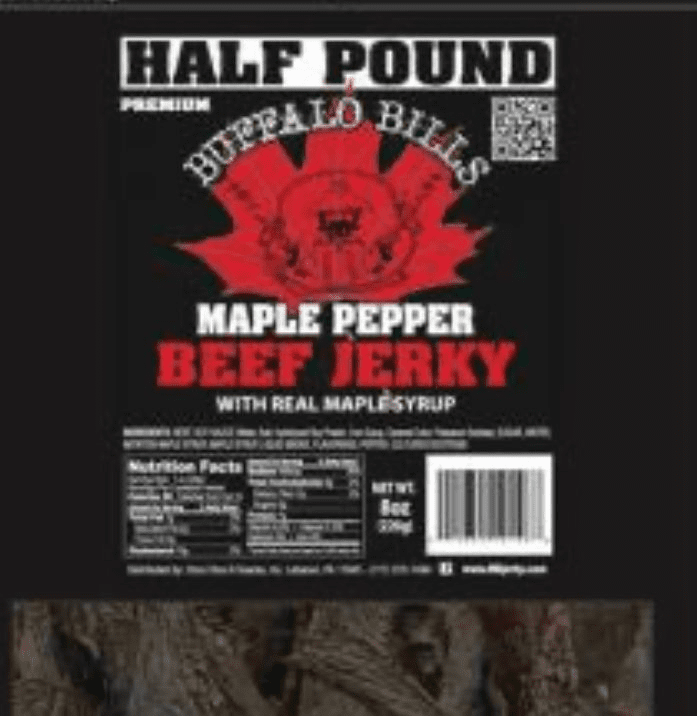 Maple Black Pepper Beef Jerky 1/2 Pound Bag