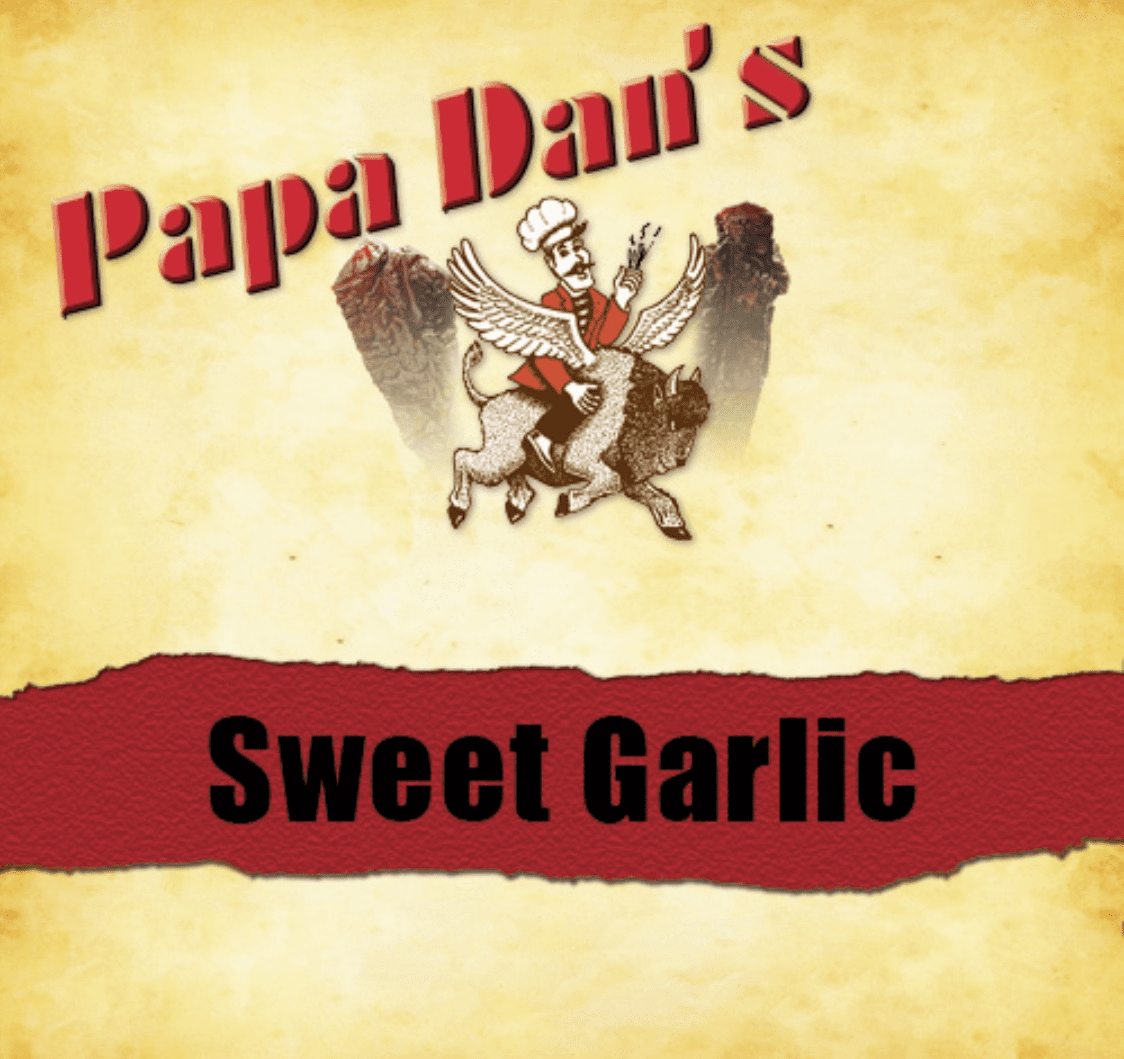 Sweet Garlic Papa Dan's Beef Jerky 1/2 Pound Bag