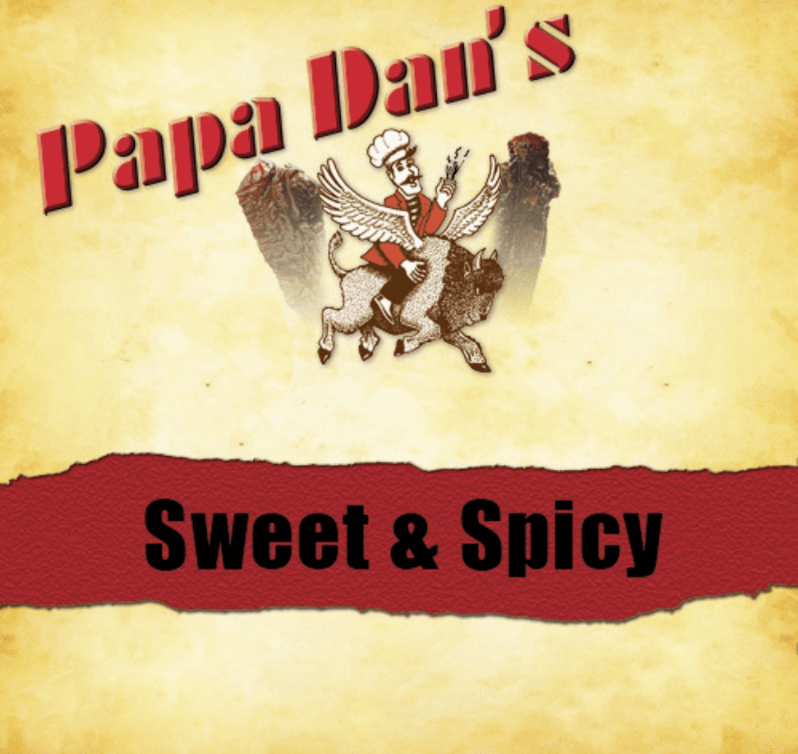 Sweet & Spicy Red Wine Papa Dan's Beef Jerky 1/2 Pound Bag