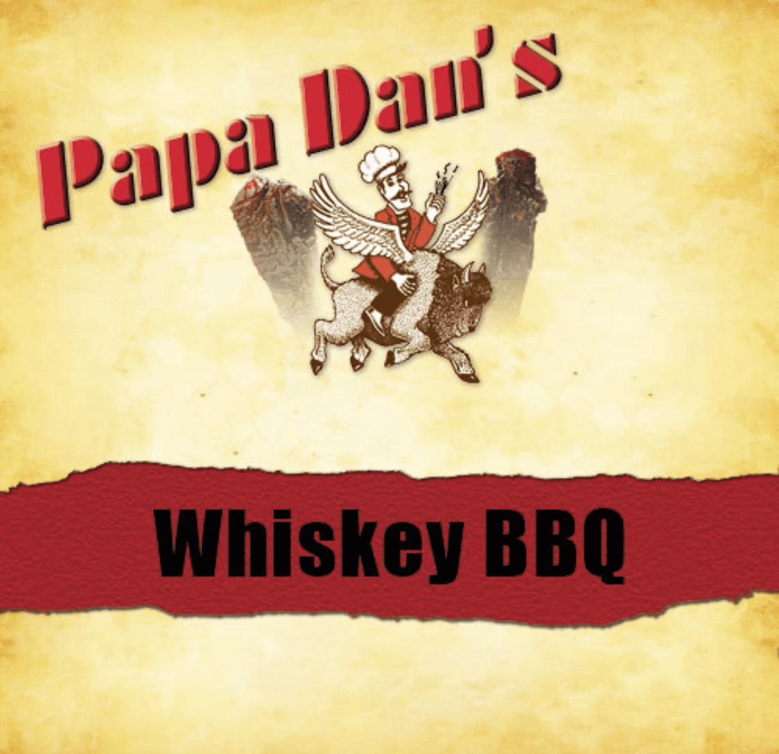 Whiskey BBQ Papa Dan's Beef Jerky 1/2 Pound Bag