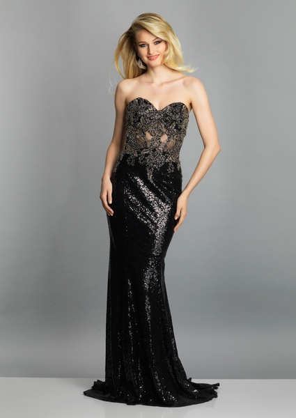 Dave and Johnny Prom Dress A7638