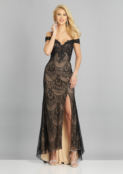 Dave and Johnny Prom Dress A8130