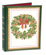 Christmas Card List Book Wreath