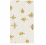 Christmas Hand Towels Gold Stars