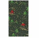Christmas Hand Towels Ski Chalet