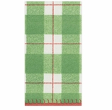 Christmas Hand Towels Tartan Plaid Green