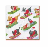 Christmas Napkins Lunch Dogs