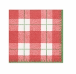 Christmas Napkins Lunch Tartan Red