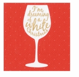 Christmas Paper Cocktail Napkins Wine Lovers